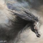 PferdEbild in pastellkreide